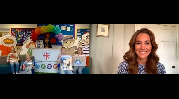GBR: The Duchess Of Cambridge Leads An Online Assembly For The Oak National Academy