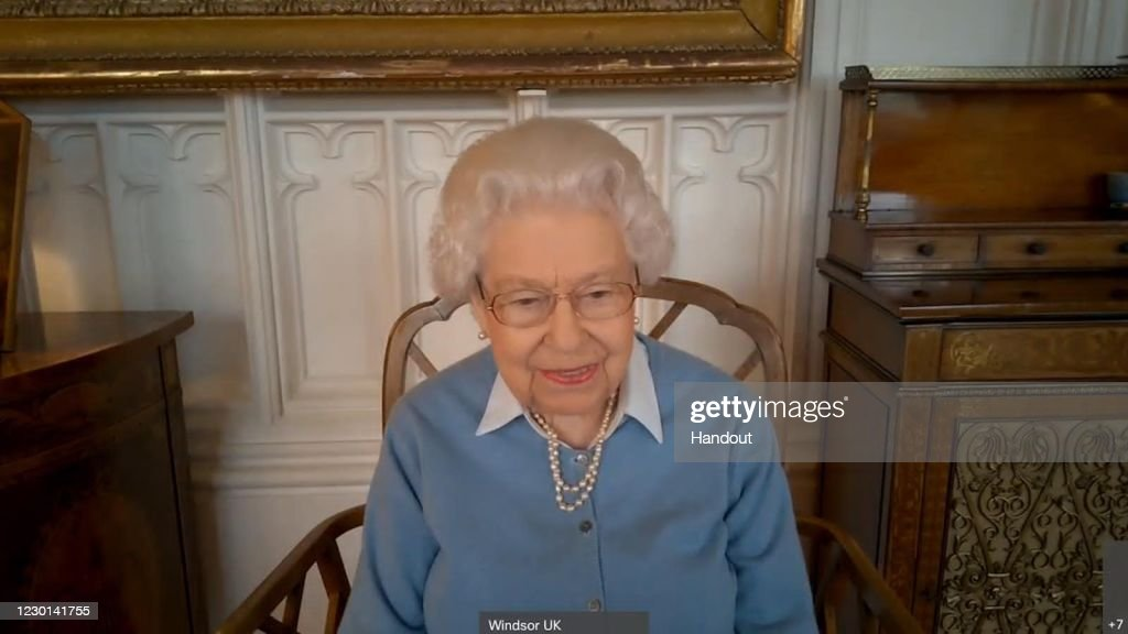 The Queen Pays A Virtual Visit To KPMG To Mark The Firm's 150th Anniversary : News Photo