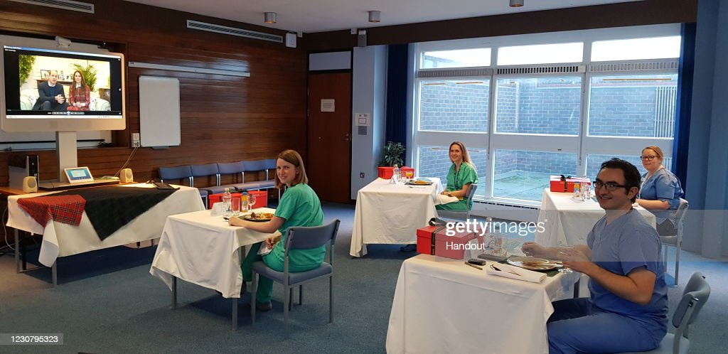 The Duke And Duchess Of Cambridge Send Burns Night Message To NHS Staff In Scotland : News Photo