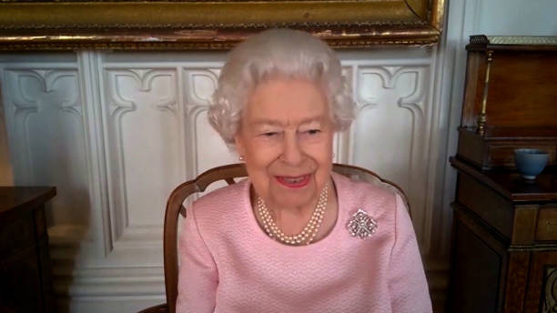 GBR: The Queen Unveils New Statue Of Her Majesty During Video Meeting With Government Representatives In South Australia