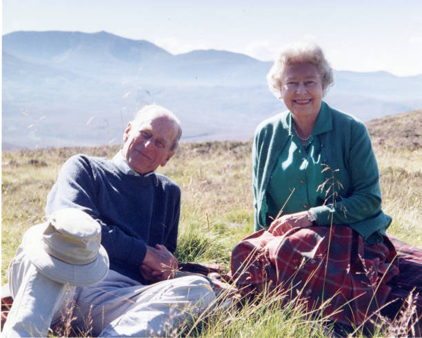GBR: Queen Elizabeth II And The Duke of Edinburgh At The Top Of The Coyles Of Muick, By The Countess Of Wessex