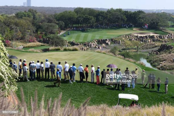 This photograph is taken on March 11 shows the DLF Golf and Country Club in Gurugram on the outskirts of New Delhi. / AFP PHOTO / Sajjad HUSSAIN