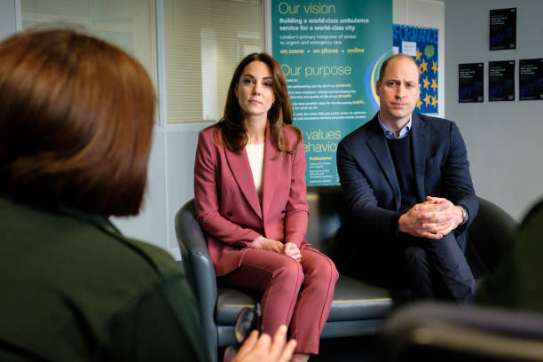 GBR: The Duke And Duchess Of Cambridge Visit The London Ambulance Service 111 Control Room