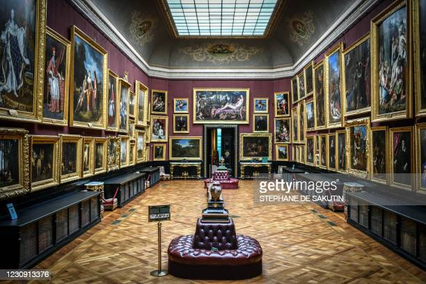 This photograph shows a part of the paintings of the Musee Condeat the Chateau de Chantilly in Chantilly, some 50kms north of Paris, on January 28,...