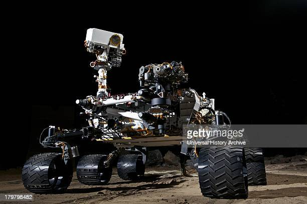 This photograph shows the Vehicle System Test Bed rover a nearly identical copy to the Curiosity rover on Mars