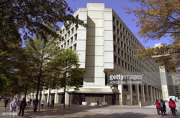 This photograph taken 08 November 2001 shows the J Edgar Hoover Building in Washington DC The building is headquarters for the FBI AFP PHOTO/ Joyce...