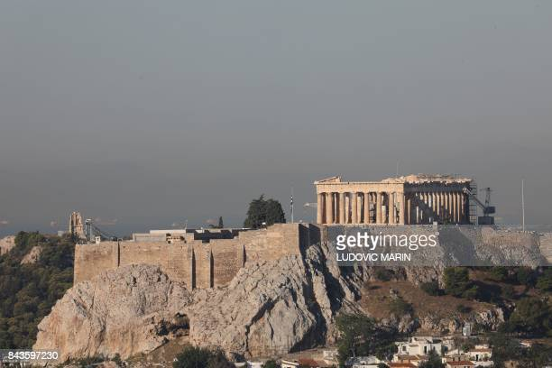 This photograph taken early September 7 shows a general view of The Acropolis in Athens
