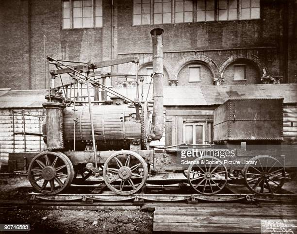 This photograph taken in 1876 is one of the earliest known photographs of 'Puffing Billy' which together with its sister locomotive 'Wylam Dilly' is...