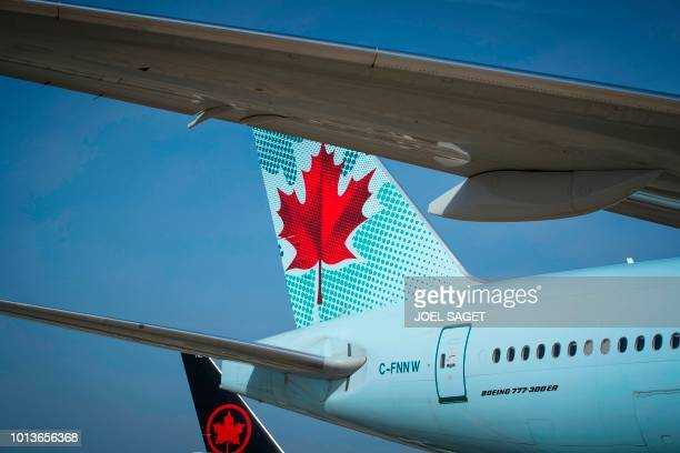 This photograph taken on August 7 shows an Air Canada Boeing 777 aircraft on the tarmac at RoissyCharles de Gaulle Airport north of Paris