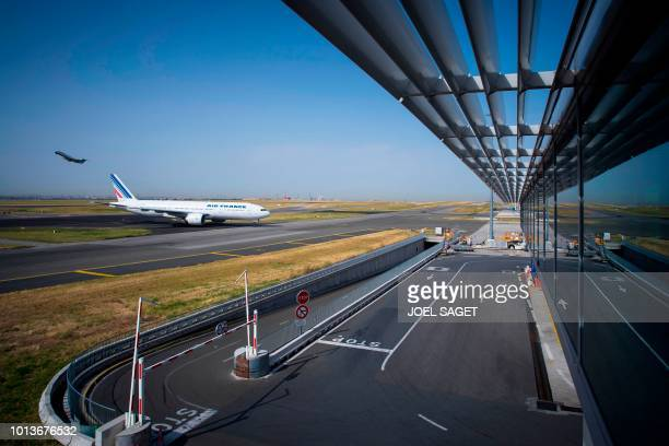 This photograph taken on August 7 shows an Air France aircraft on the tarmac at RoissyCharles de Gaulle Airport north of Paris
