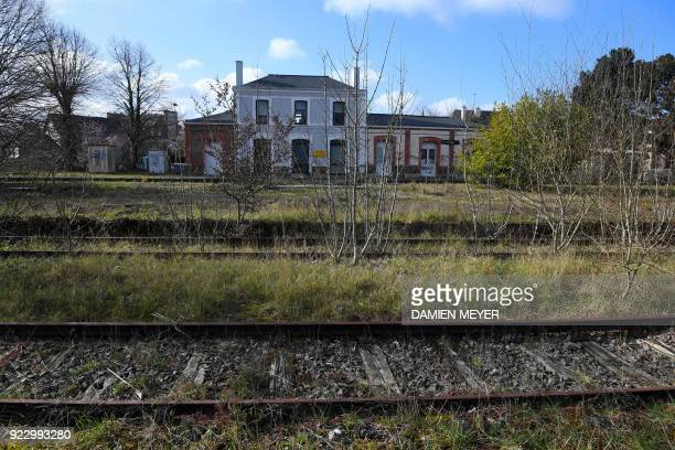 This photograph taken on February 20 shows buildings at the railway station in Plancoët which are now occupied largely by an insurer A report by...
