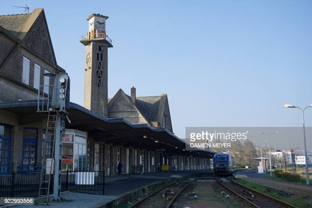 This photograph taken on February 22 shows a general view of the railway station of Dinan western France A report by former Air France Chief...