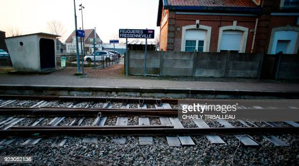 This photograph taken on February 22 shows the train station at FeuquièresenVimeu northwestern France which is served by the railway line connecting...