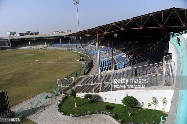 This photograph taken on May 9 2012 shows a general view of the National Cricket Stadium of Karachi Karachi's National Stadium was once a dusty...