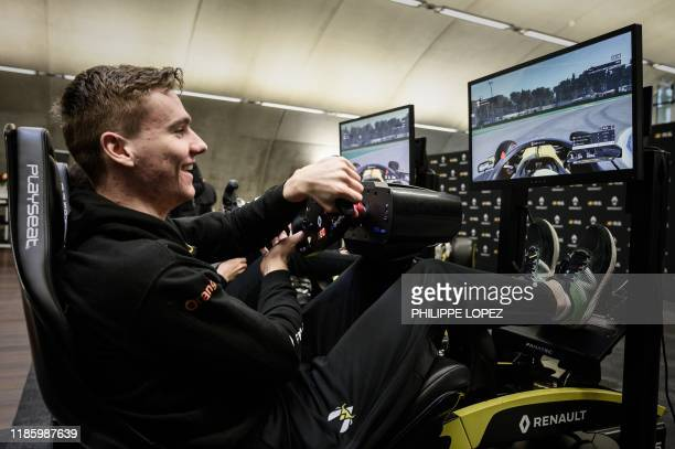 This photograph taken on November 25 shows member of the esport team Vitality Jarno Opmeer of the Netherlands as he demonstrates his skills on the...