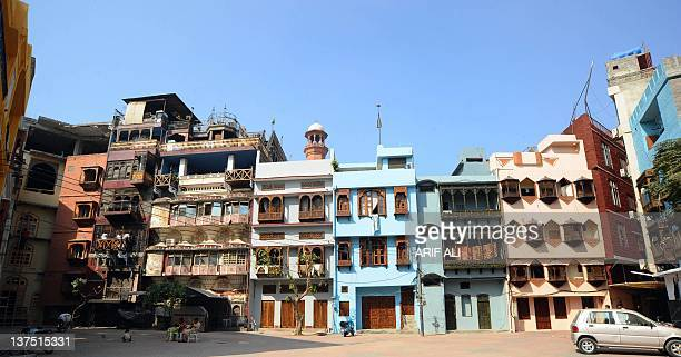 This photograph taken on October 29 2011 shows buildings in the old residental walled city of Lahore The medieval walled city of Lahore is under...