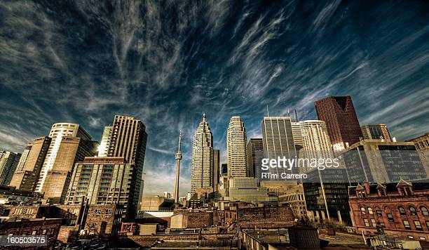 CONTENT] This photograph was taken on the rooftop of a building at Church St and Front St here in Toronto It gives a new take on the city's skyline...