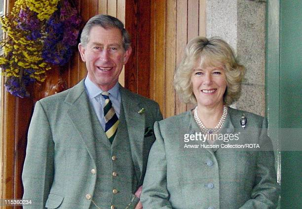 This photograph which has been released by Clarence House Thursday February 10 shows the Prince of Wales and Mrs Camilla Parker Bowles at Birkhall in...