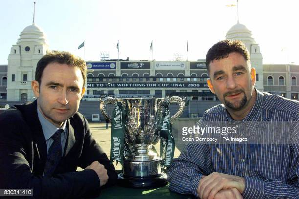 This picture can only be used within the context of an editorial feature Leicester City manager Martin O'Neill and Tranmere Rovers manager John...
