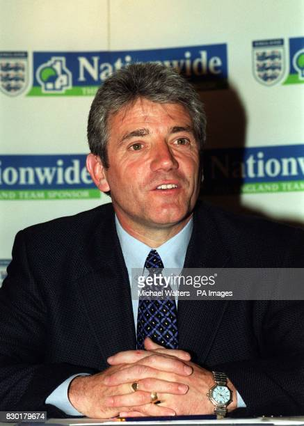 This picture can only be used within the cotext of an editorial feature Kevin Keegan at a press conference at the FA's headquarters in Lancaster Gate...