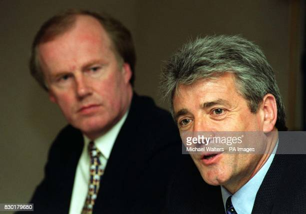 This picture can only be used within the cotext of an editorial feature Kevin Keegan with the Football Association's interim executive director David...