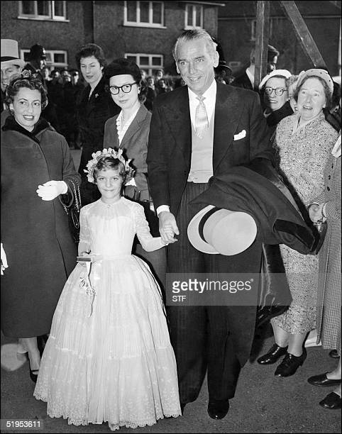 This picture dated 15 November 1955 shows American film star Douglas Fairbanks Junior arriving at a wedding in Rickmansworth. Dashing and debonair...
