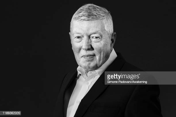 this picture has been converted in black and white] British Labour Party politician Alan Johnson attends a photo call during Edinburgh International...