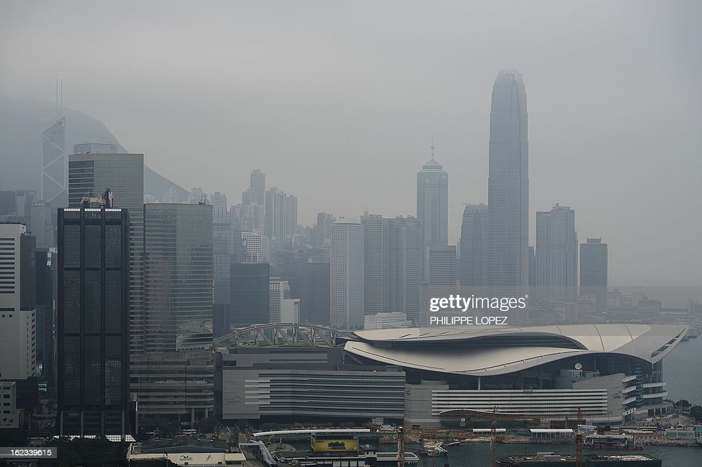 This picture on February 21, 2013 shows high rise buildings in Hong Kong. Hong Kong unveiled fresh measures on February 22, 2013 to cool its ever red-hot property market, as the finance minister warned that an asset bubble is forming in the southern Chinese city. AFP PHOTO / Philippe Lopez