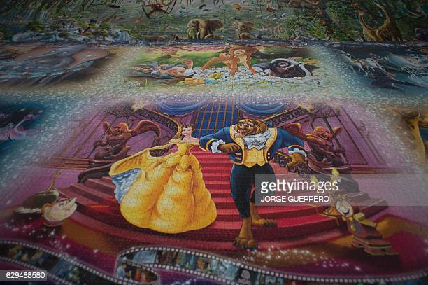 This picture shows a 7x2 meter puzzle the biggest one in the world made with 40320 pieces and shown at the Jose Luis Cano Documentary Center in...