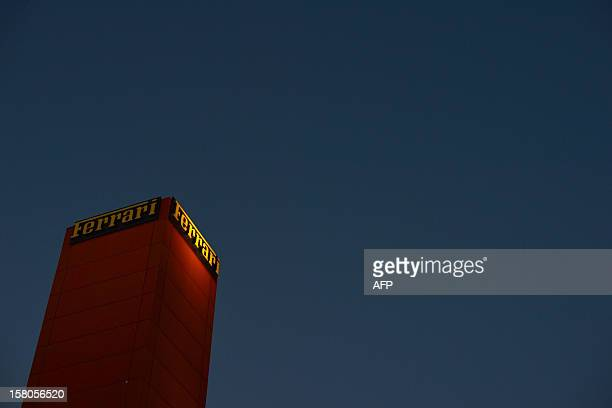 This picture shows a building of the Ferrari factory on December 5 2012 in Maranello The Ferrari 45 buildings's factory where more than 3000 workers...