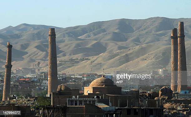 This picture shows a general view of Musalla Complex in the old city of Herat on April 16 2012 The foundations of the Musalla Complex also known as...