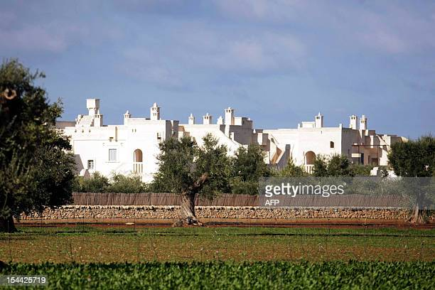 This picture shows a general view of the Bagno Egnazia resort in Fasano in the southern Italian region of Puglia where actors Justin Timberlake and...