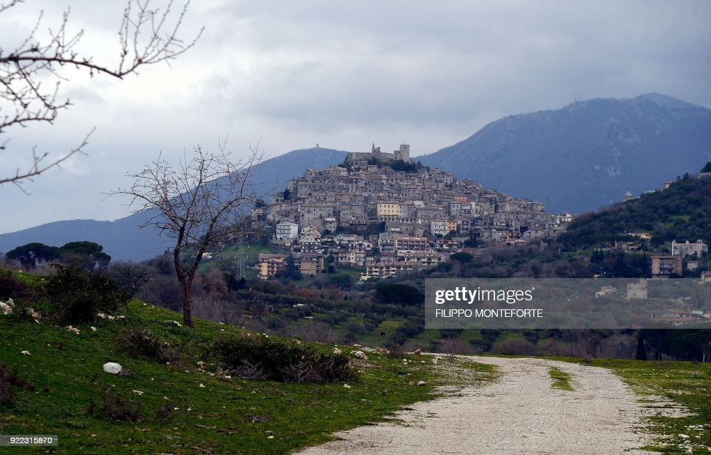 This picture shows a general view of the Italian town of Guidonia on February 1, 2018. In the industrial town of Guidonia near Rome, its first Five Star mayor is pulling out all the stops as the populist movement gears up for a shot at national governance. Tall, bespectacled and originally from France, Michel Barbet won the mayoralty last year amid an outpouring of frustration and anger towards the mainstream political parties. /