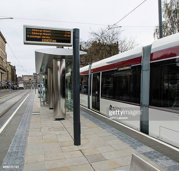 CONTENT] This picture shows a tram at the tram stop in St Andrew Square Edinburgh Edinburgh Trams is a tramway undergoing preliminary testing in...