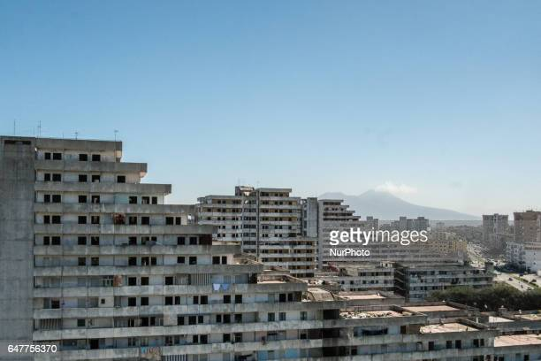 This picture shows a view from the Vele building in the Scampia area in the suburb of Naples on March 3 2017 The northern Neapolitan suburb of...
