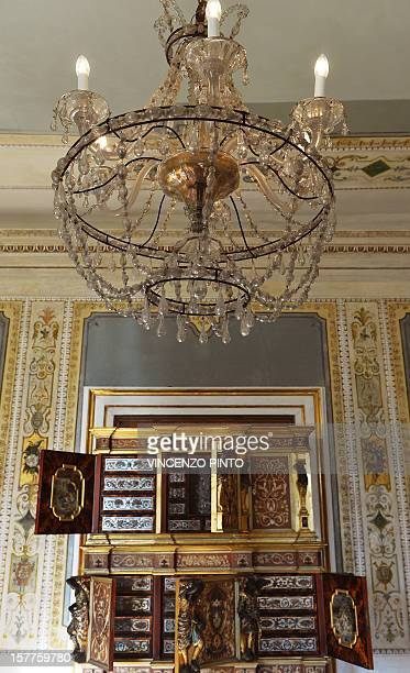 This picture shows a view of the Empress' study room in the Imperial apartments of the Royal Palace on December 3 2012 at the Correr museum in...