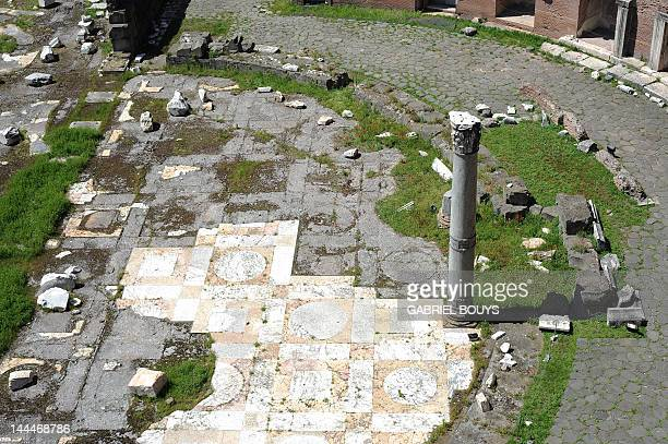 This picture shows a view of the Trajan's market on May 14 2012 in Rome The Trajan's market is a complex of ruins probably built in 100110 AD on the...