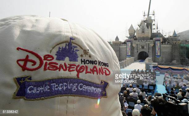 This picture shows Sleeping Beauty Castle at the construction of the Hong Kong Disneyland Theme park being built at Penny's Bay on Lantau island...