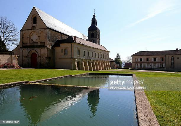 This picture shows the Abbaye d'Hauvillers, owned by Moet et Chandon Champagne house in Hautvillers, eastern France on April 20, 2016. Between Reims...