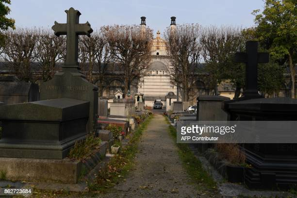 This picture shows the crematorium of the Pere Lachaise cemetery in Paris on October 17 2017 / AFP PHOTO / CHRISTOPHE ARCHAMBAULT