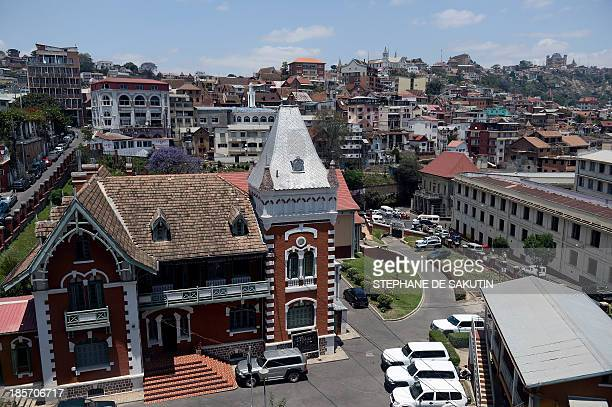 This picture shows the Electoral Court of Justice which is also the Constitutional High Court in Antananarivo on October 24 on the eve of the...