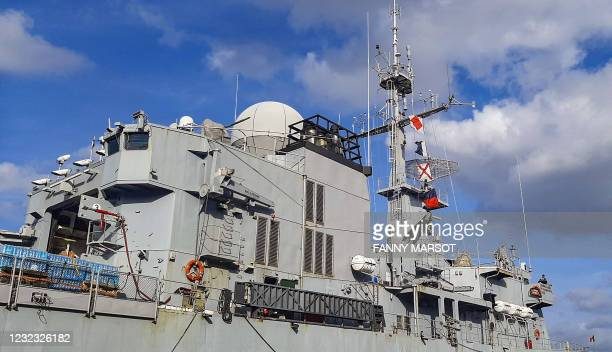This picture shows the Floreal class French frigate Ventose prior to moving to the island of Saint Vincent and the Grenadines to bring aid parcels,...