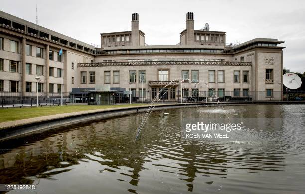This picture shows the International Residual Mechanism for Criminal Tribunals in the Hague, the Netherlands, prior to the hearing of the appeal...