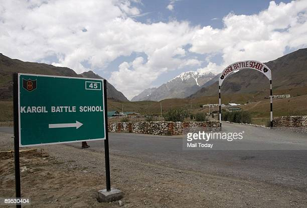 This picture shows the Kargil Battle School opened by the Army to train personnel who will be deployed in Kargil July 26 is the tenth anniversary of...