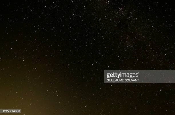 This picture shows the Milky Way in the sky near Chinon, center France, on July 20, 2020.