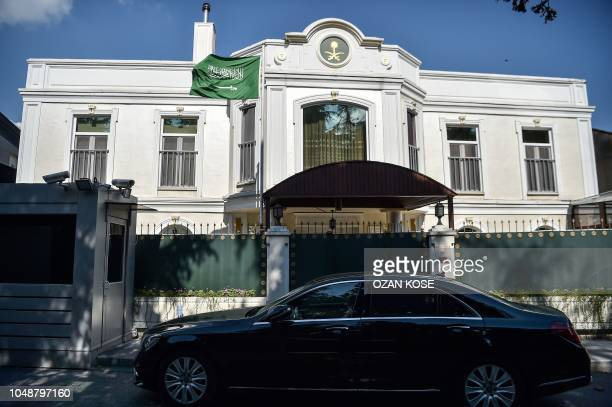 This picture shows the residence building of the Saudi Arabian consulate in Istanbul on October 10 2018 Jamal Khashoggi a Saudi Washington Post...