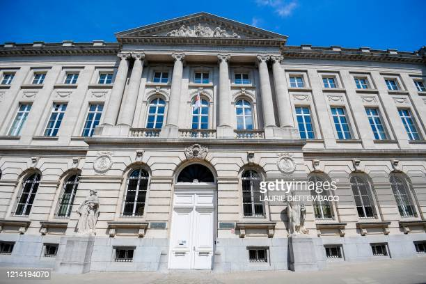 This picture shows the Royal Military Academy in Brussels on May 20 2020 / Belgium OUT