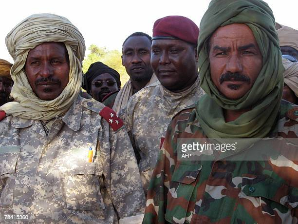 This picture taken 11 December 2007 in Abougoudam shows Hassan Saleh elDinedi president of Chadian National Concord rebel movement and general...