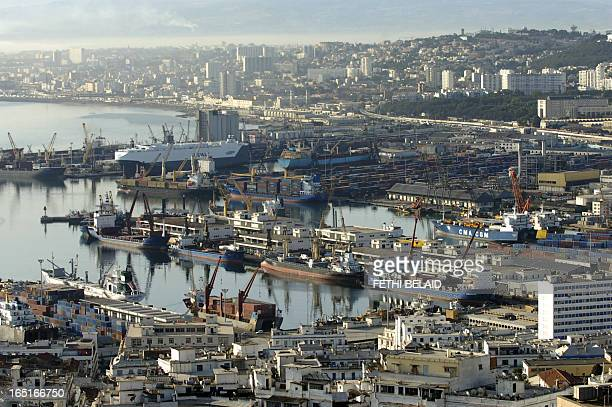 This picture taken 24 July 2007 shows Algiers maritime port The 9th AllAfricanGames 2007 took place in Algiers capital from 11 to 23 July 2007 AFP...