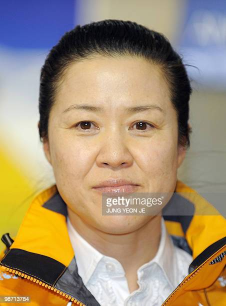 This picture taken March 5 2010 in Seoul shows South Korean climber Oh EunSun during a ceremony for Annapurna expedition Oh EunSun who is bidding to...